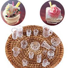 15pcs 1:12 Scale Dollhouse Miniature Cup Dish Bowl Tableware Plate Set Kitchen