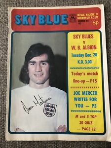 Coventry City v West Brom Football Programme - 26/12/1972