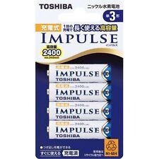 Toshiba Rechargeable AA Batteries 2400mAh High Power Ni-MH AA Battery 500 Cycle