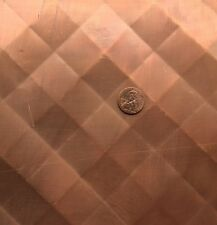 "Quilted Copper Sheet .0216"" Thick - 16oz - 24 Ga -30""x60"" -FREE 48 ST SHIPPING"