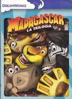 3 dvd Box MADAGASCAR LA TRILOGIA - 3 film collection serie completa nuovo