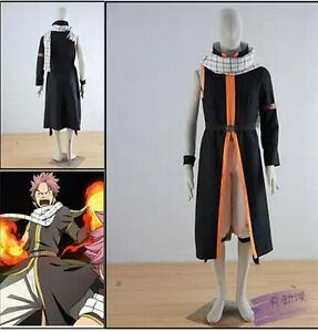 Anime hot Fairy Tail cosplay costume Natsu Dragneel cosplay costume coat+pant+be