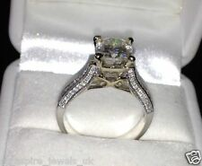 1.99CT CUSHION CUT BEAUTIFUL ENGAGEMENT RING SOLID STERLING SILVER 925 S
