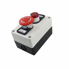 Red Lamp Self Locking Emergency Stop Mushroom Switch Push Button Station 660V