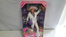 "BARBIE   ""70's DISCO BARBIE""     Blonde,  White Pantsuit    1998   [116c]"