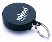Rolson Recoil Key Ring Belt Clip Retractable Keyring Chrome Secure Steel Rope