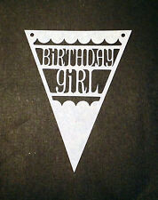 Scrapbooking - craft - card making - embellishment - birthday girl flag