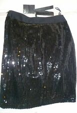 NEXT SIGNATURE BLACK SPARKLY MINI SKIRT,SIZE UK 8-EU 36,BRAND NEW WITH TAGS
