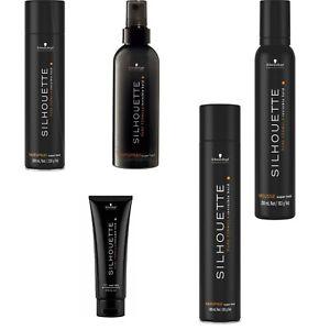 Scwarzkopf Black Silhouette Super Hold Hairspray Mousse Salon Professional UK