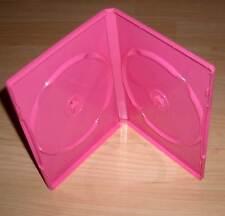DVD Hülle Case 2fach - 2er DVDhülle Doppelhülle - pink rosa farbig für 2 DVDs