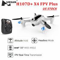 "Hubsan FPV X4 H107D+ Plus w/ 4.3"" Monitor 720P Camera Headless RC Quadcopter RTF"