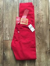 Levis 510 Skinny Jeans 26W 32L Scooter Red Pants Denim Levi Slim New With Tags