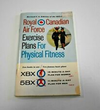Royal Canadian Air Force Exercise Plans for Physical Fitness 1962  VTG Paperback