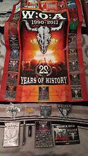 Wacken W:O:A Full Metal Bag 2010 komplett + Anniversary Poster