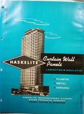 EVANS Products HASKELITE Curtain Wall Panels Catalog ASBESTOS CEMENT 1962