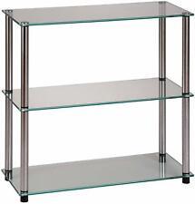 New Convenience Concepts Designs2Go Go-Accsense 3-Shelf Glass Bookcase Clear