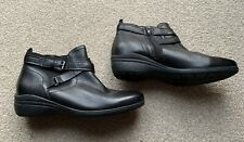 ladies black leather ankle boots size 6 39