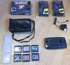 Sega Game Gear Konsole + 6 Spiele + Funktion geprüft