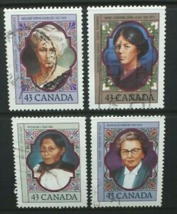 CANADA 1993 Prominent Canadian Women. Set of 4. Fine USED. SG1529/1532.
