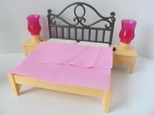 Playmobil DOLLSHOUSE/Grand Manoir Mobilier: lit avec Lumière-up Feux NEUF