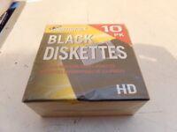 "NEW Memorex Black Diskettes 3.5"" Floppy HD, 10-Pack"