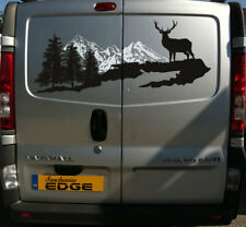 SANCTUARIES EDGE 100CM MOUNTAIN RANGE SCOTLAND STICKER DECAL CLIMB STAG HIKING