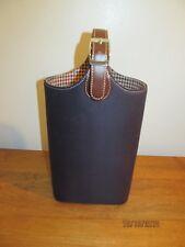 Baekgaard Navy & Brown Fabric & Leather Wine Bag Carrier