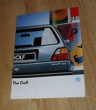 Volkswagen VW Golf Mk2 Brochure 1987 - 1.3 1.6 CL 1.8 GL Turbo Diesel 3 & 5 Door
