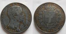 Regno di sardegna 5 lire 1853 Genova Molto rare