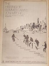 Joni Mitchell hissing summer lawns 1975 press advert Full page 28 x 39 cm poster