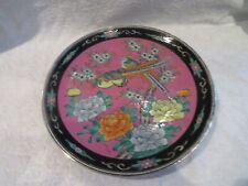 beau plat porcelaine Japon monture argent minerve faisans japanese porcelain