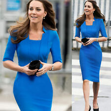 Women's Solid Stretch, Bodycon Knee-Length Cocktail Dresses