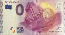 BILLET 0 ZERO EURO SOUVENIR TOURISTIQUE FUTUROSCOPE 2015-1