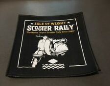 Isle of Wight Scooter Rally Sew On Patch BN Mod Vespa Lambretta