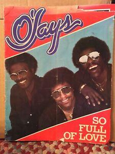 O'Jays So Full Of Love OVERSIZED BOOK CONCERT PROGRAM
