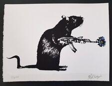 Blek le RAt-IL GUERRIERO ed del 300 firmata e numerata LTD EDN. Nuovo di zecca. (Banksy)
