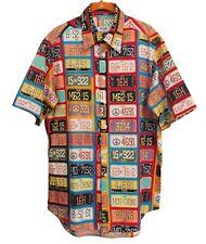 MOSCHINO Jeans Vintage Shirt License Plate Printe Cotton Size M