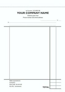 One Invoice Book Personalised A4 50 sets Duplicate NCR COLOUR - Receipt Book