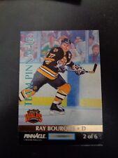 Ray Bourque 1992-93 Team Pinnacle #2 Hockey Card NM Boston Bruins Chris Chelios