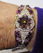 bracelet rhinestone purple lavendar BLING BLING Fancy spectacular bangle