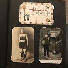 Antique Postcard Album 400 + Rppc, Halloween, Blk American , US Scenes, Leather