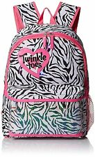 SKECHERS Twinkle Toes Youth Light-Up Neo Zebra Hot Pink MultiPocket Backpack NWT