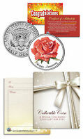 """HAPPY ANNIVERSARY"" Keepsake Gift JFK Kennedy Half Dollar US Coin"
