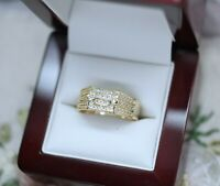 Vintage Jewelry Gold Ring with White Sapphires Antique Deco Jewellery W1/2