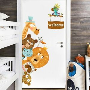 Animal Wall Stickers For Kids Room Baby Room Decorative Sticker DIY Cartoon Wall
