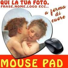 Tappetino Mouse pad a forma di Cuore in Tessuto con Stampa Personalizzata - Idea
