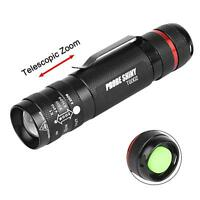 Zoomable 6000 Lumen 5 Modes T6 LED 18650 Flashlight Penlight Torch Lamp Light GA