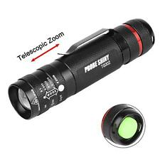 Zoomable 6000 Lumen 5 Modes T6 LED 18650 Flashlight Penlight Torch Lamp Light MT