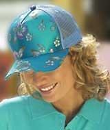Qty; 2 x Ladies Fashion Designer Flower-Power Caps - Only £1.98