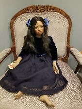"Rare Elite Dolls""Callie"" by Christine Orange 38"" Porcelain Doll African American"